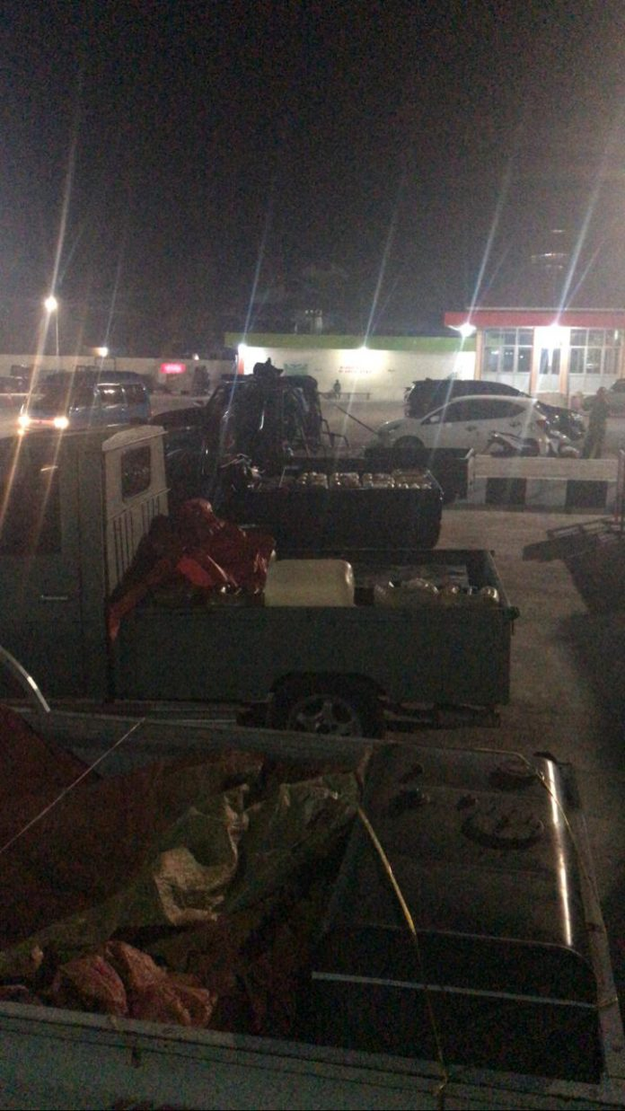 4 unit kendaraan penimbun bbm disita polisi